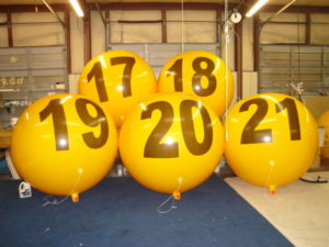 advertising balloon suppliers provide number balloons