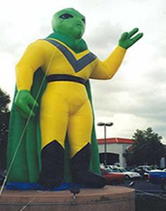 Alien shape advertising inflatable