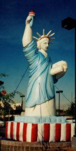 Statue of Liberty advertising inflatable.